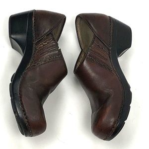 Dansko Shoes Brown Leather Clogs Arch Support 39 9